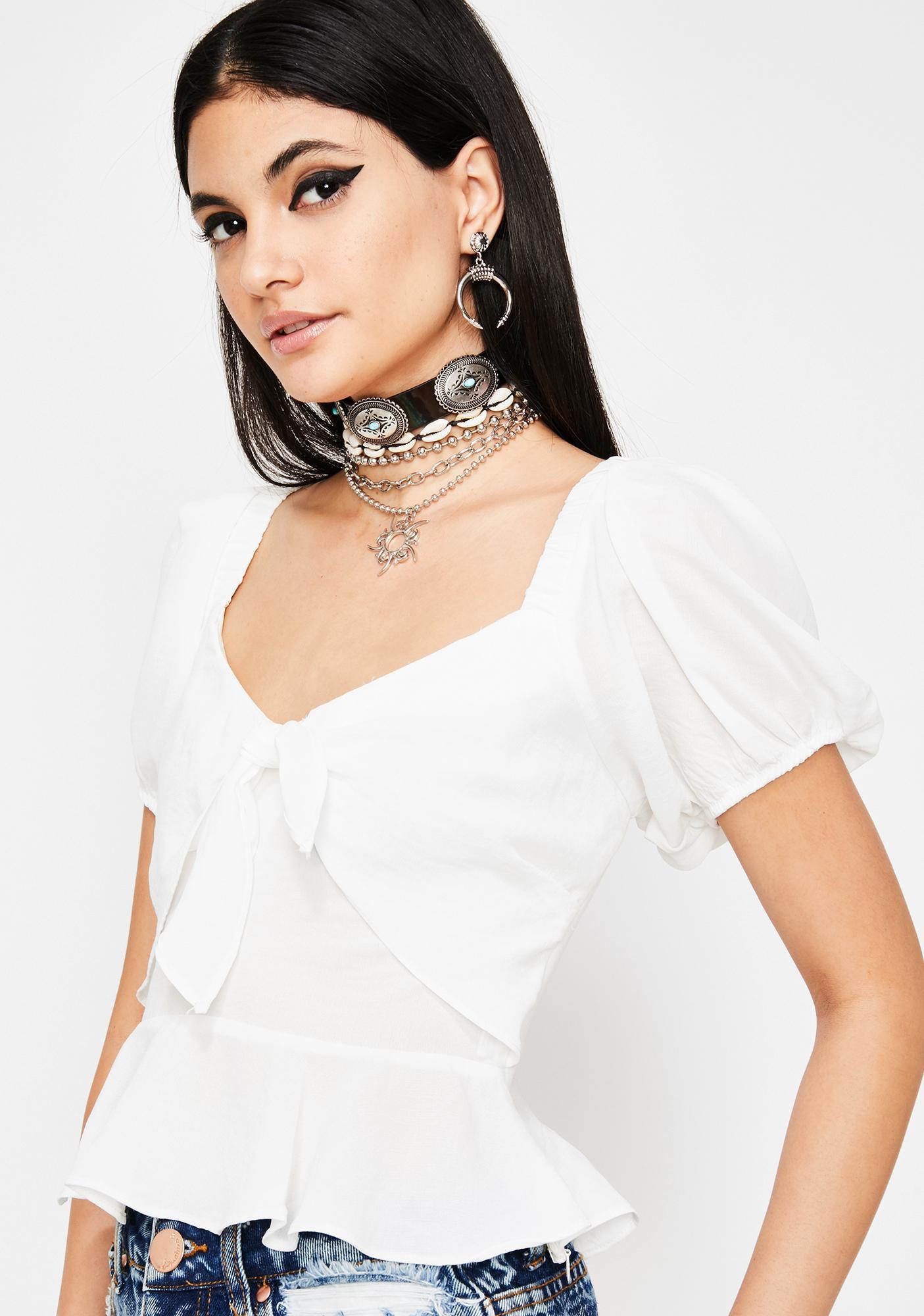 Prissy Princess Tie Front Top