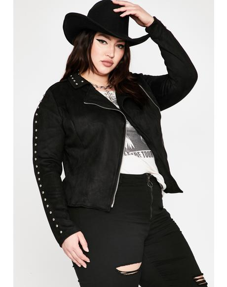 Ride Into Hell Faux Suede Jacket