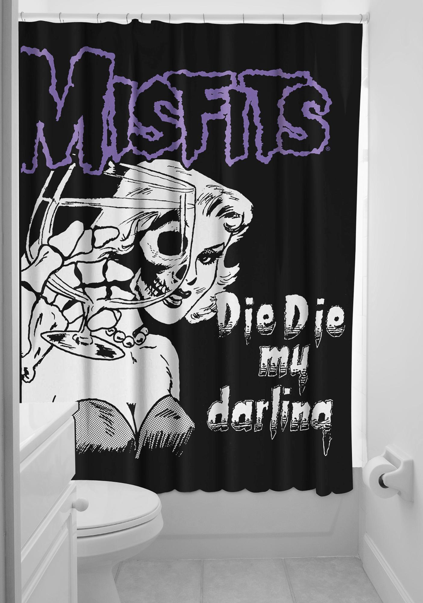 Sourpuss Clothing Misfits Shower Curtain