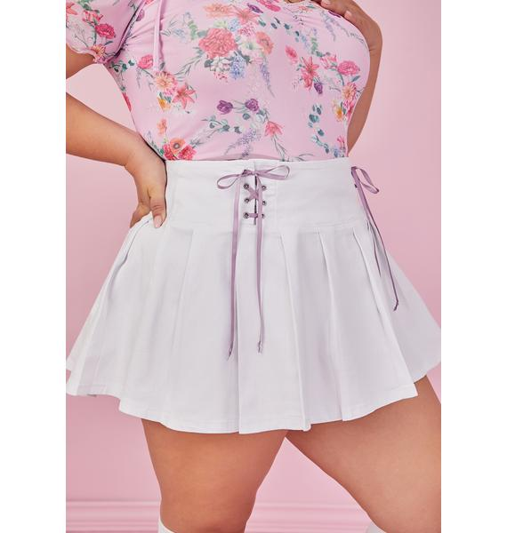 Sugar Thrillz My One And Only Lace Up Pleated Skirt