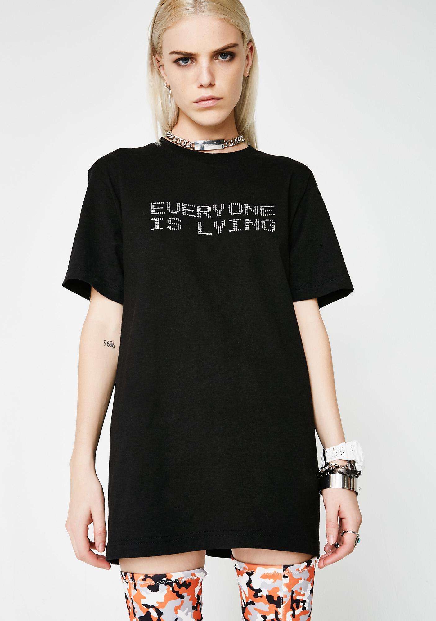 Whatever 21 Everyone Is Lying Crystal Tee