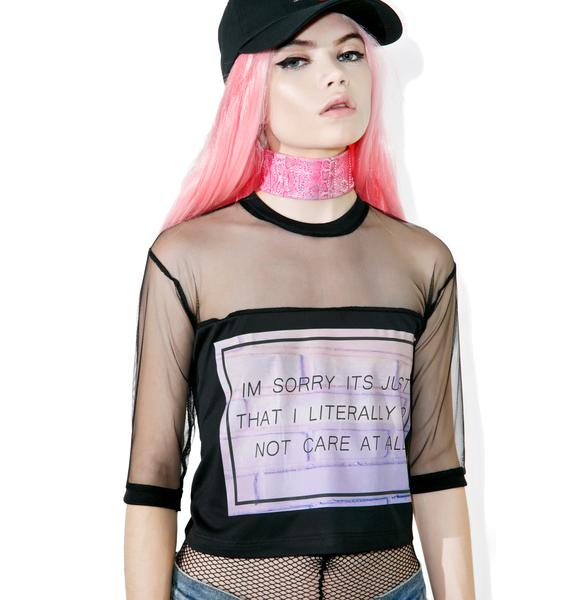So Don't Care Mesh Tee