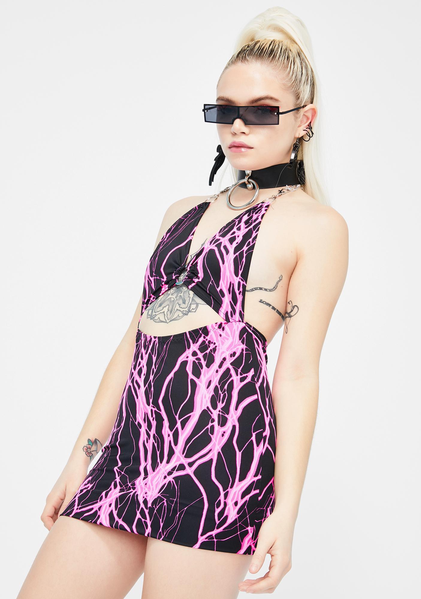 Babydol Clothing Pink Electric Cut-Out Mini Dress