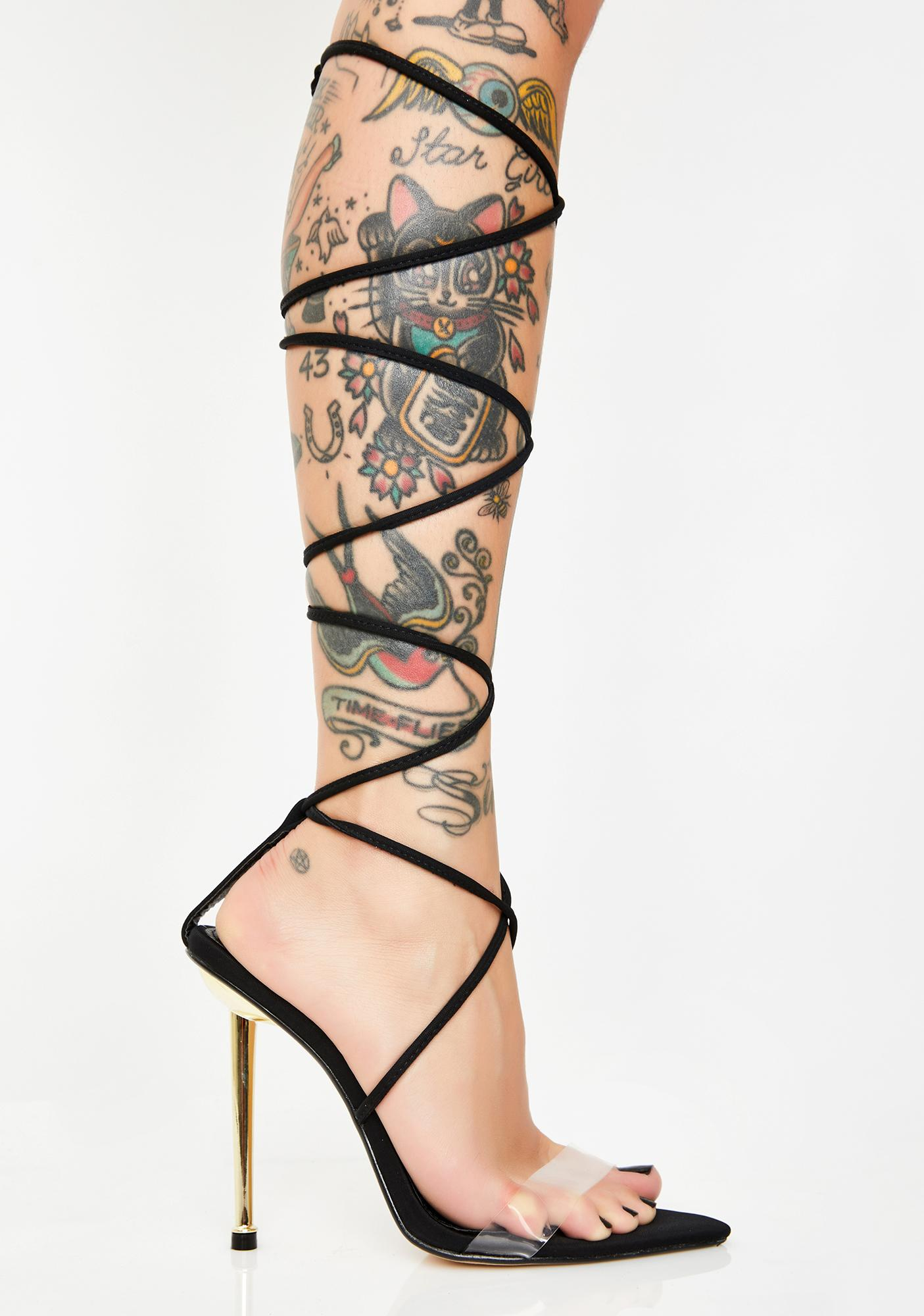 Lust For Life Lace-Up Heels