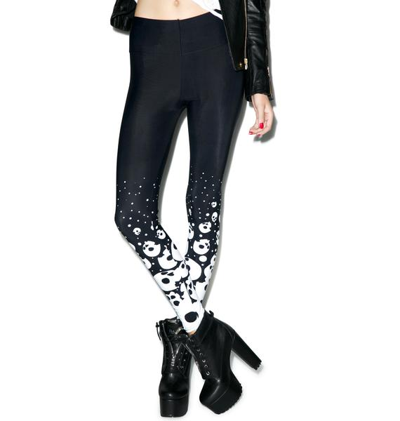 Too Fast Falling Skulls Leggings