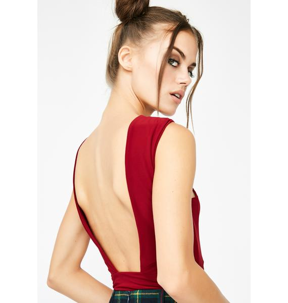 No Fuxx Backless Bodysuit