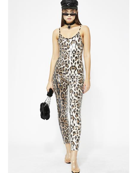 Overnight Celebrity Sequin Jumpsuit