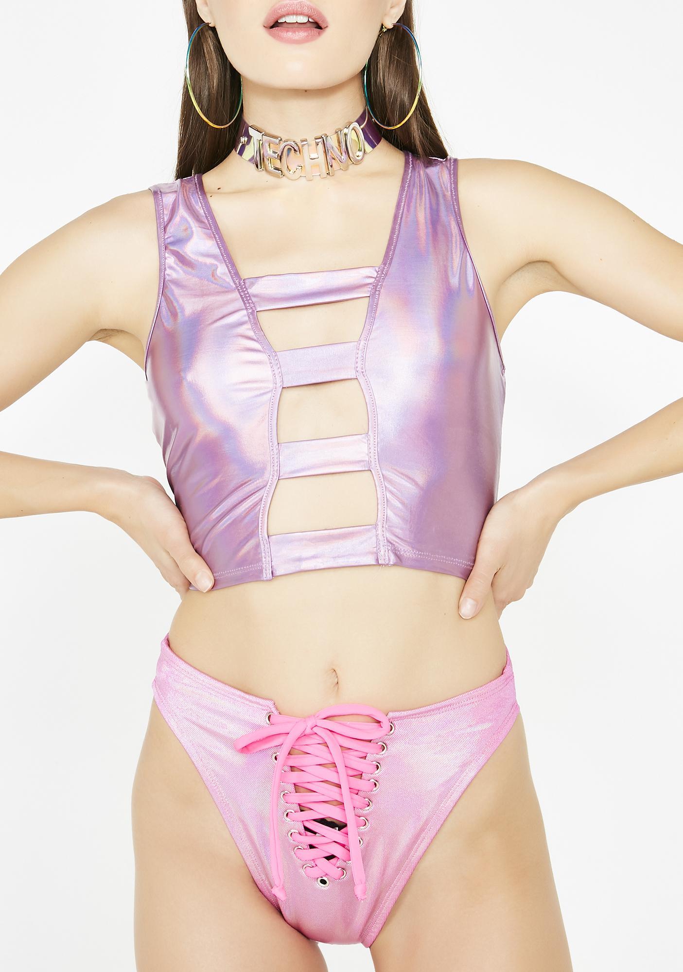 J Valentine Candy Cosmic Baddie Lace-Up Bottoms