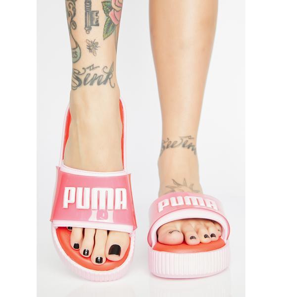 PUMA Fashion Wns Platform Slides