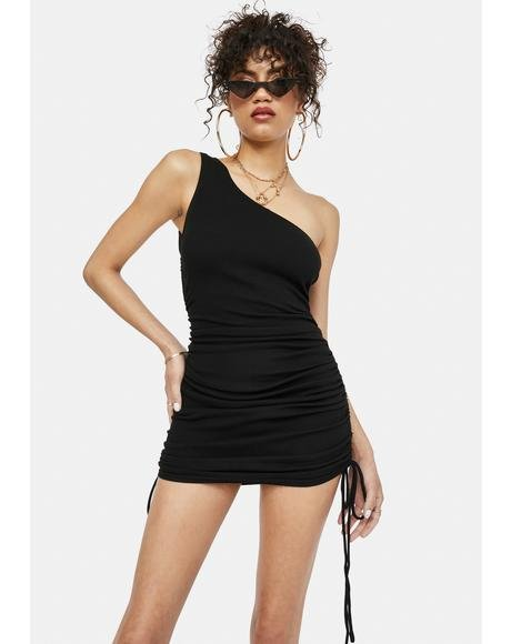 Totally Carefree One Shoulder Mini Dress