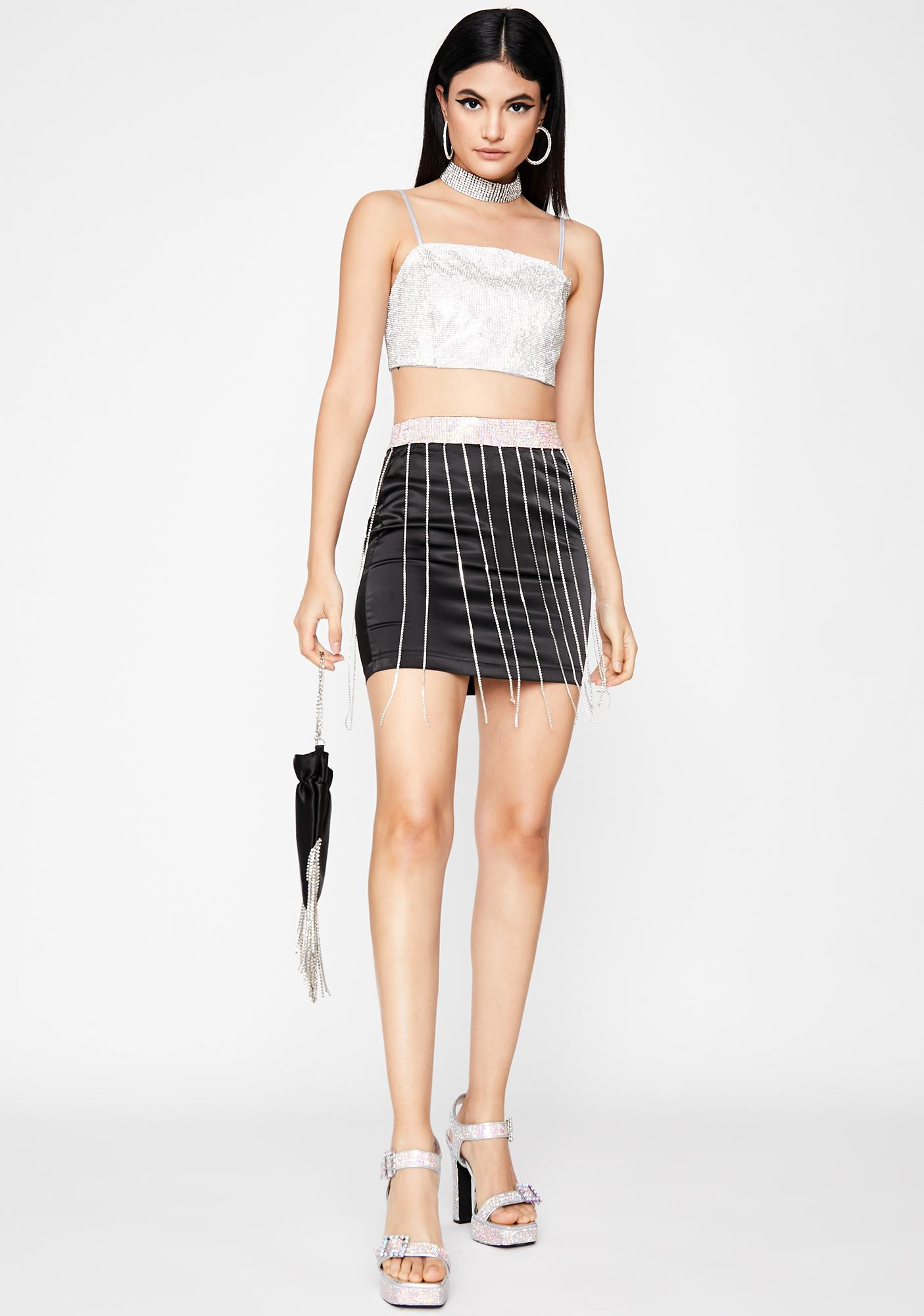 Supa Freak Rhinestone Skirt