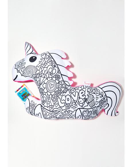 Color Me Magical Unicorn Pillow
