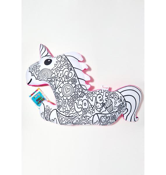 Color Me Magical Unicorn Pillow