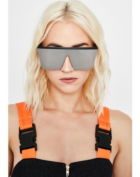 Ash Trinity Emblem Shield Sunglasses