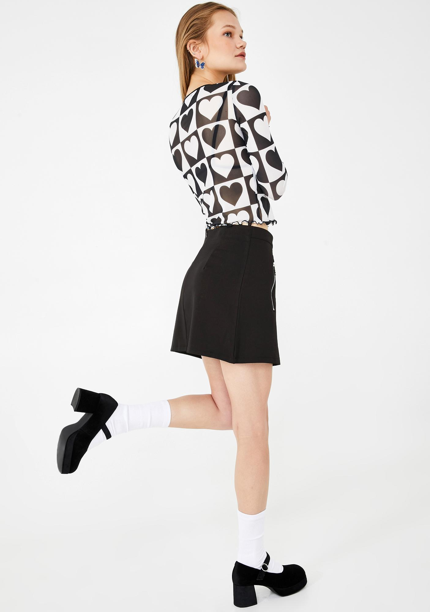 dELiA*s by Dolls Kill Skipping Daydreams Buckle Skirt