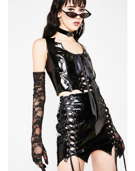 Immortal Temptress Vinyl Skirt