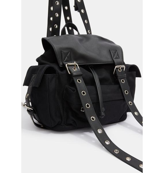 Current Mood Cross The Line Canvas Backpack
