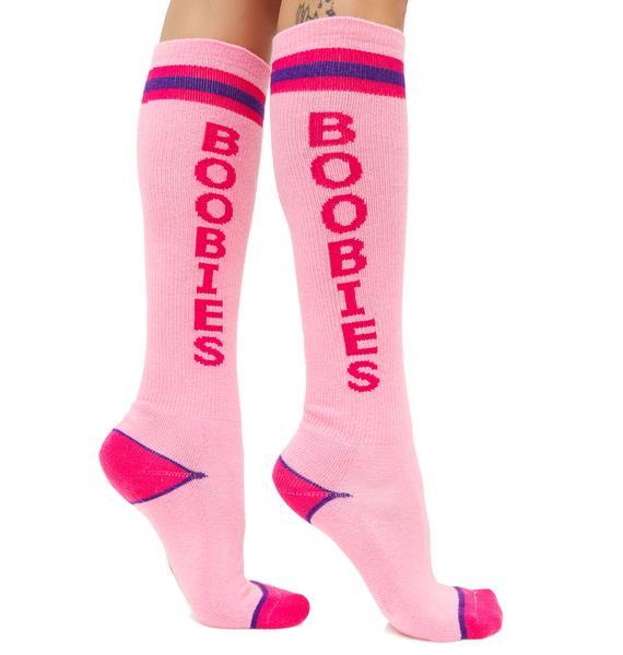 Gumball Poodle Boobies Athletic Knee Socks