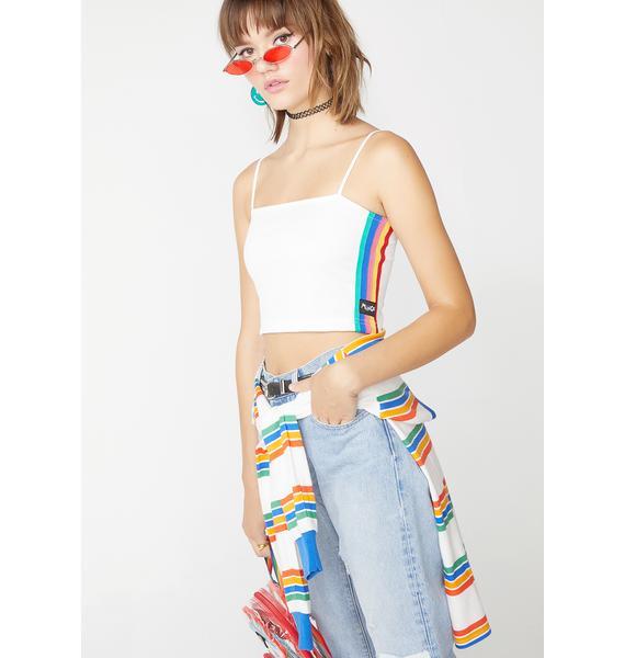 Minga Pure Rainbow Stripe Cami Top