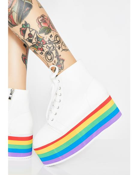 Rainbow Rebellion Platform Sneakers