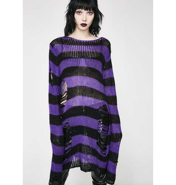 Killstar Wonka Knit Sweater