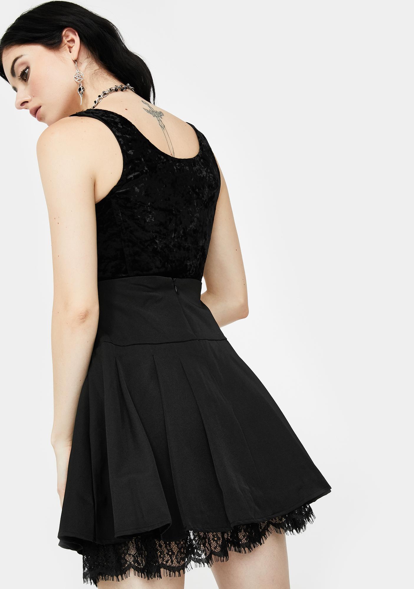 Killstar Abbey Pleated Skirt