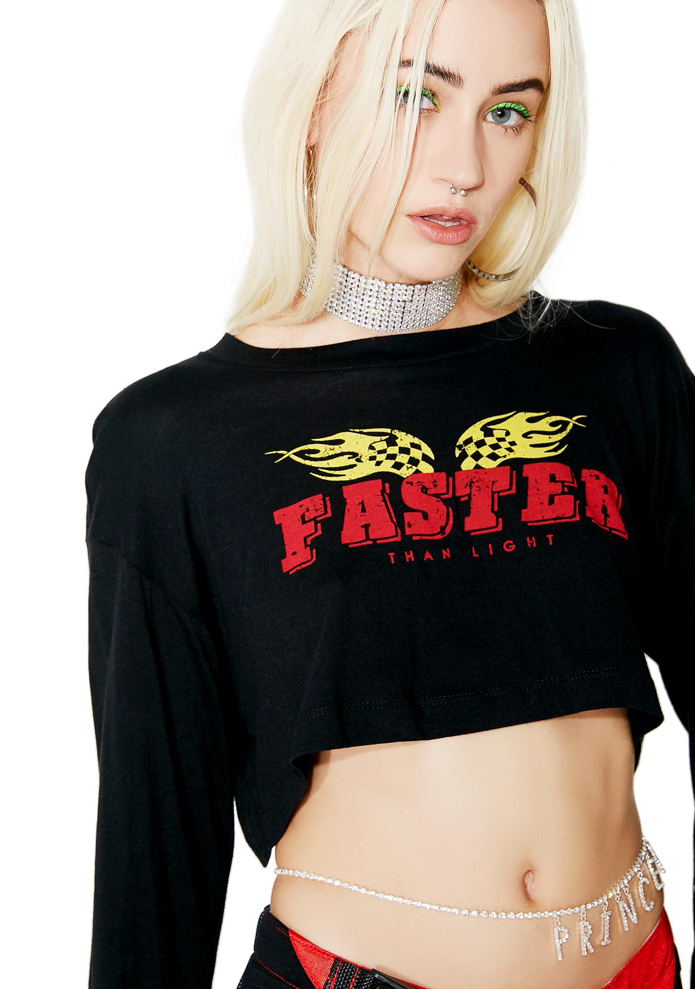 Wanna Go Fast? Cropped Tee