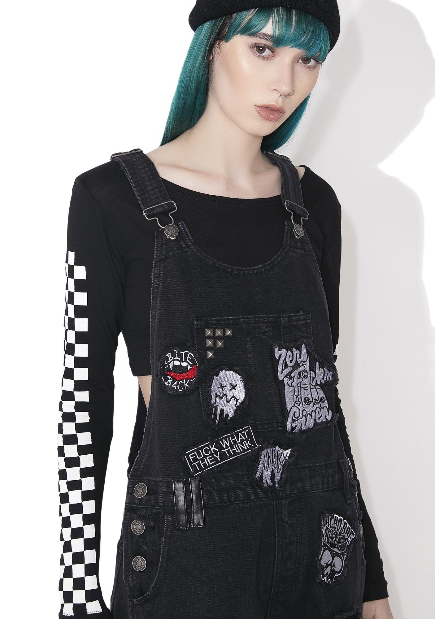 Killstar Jinx Cursed Cutie Overalls