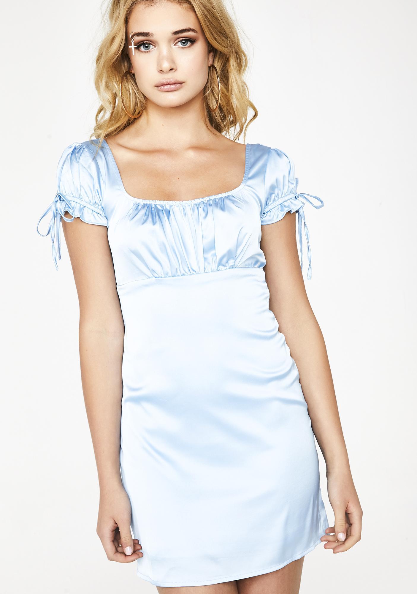 a0c19619d34c Satin Scoop Neck Mini Dress
