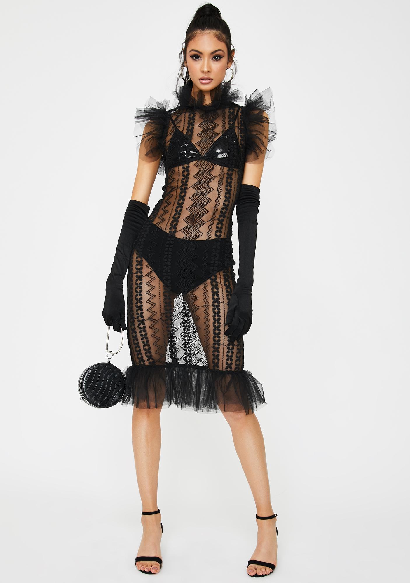 Kiki Riki Madame Rules Mesh Midi Dress