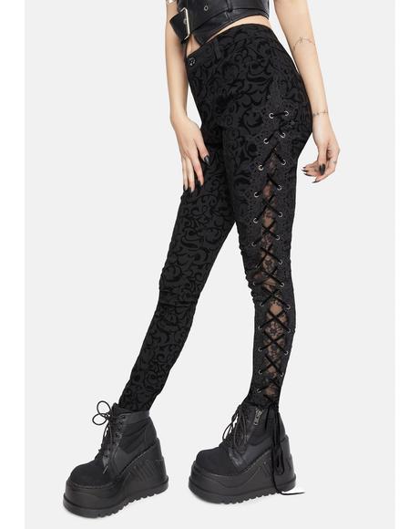 Lace Up Side Skinny Pants