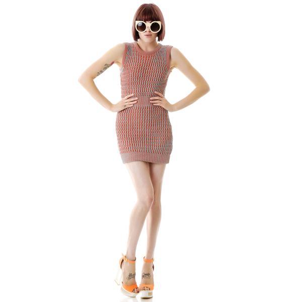 Fairground Acid Sweater Tank Dress