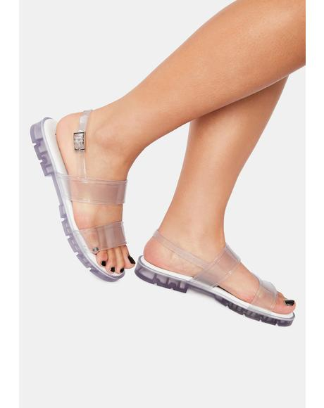 Clearly Arlington Jelly Sandals
