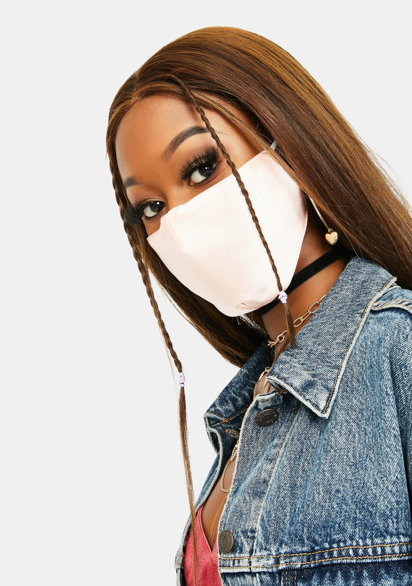 Soft Vibes Satin Face Mask