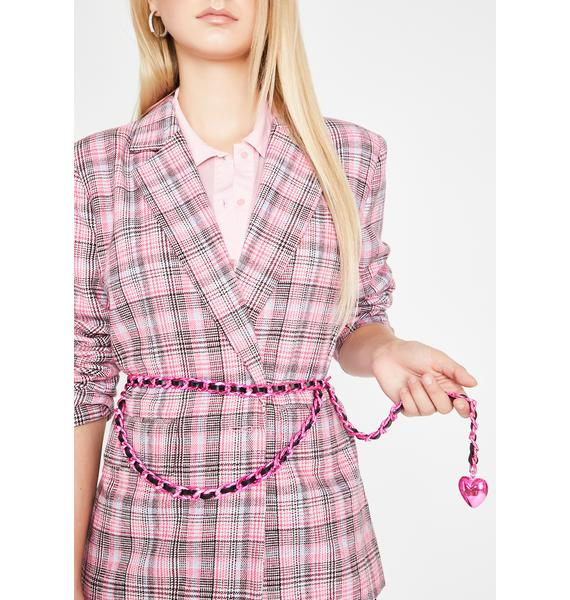 Heart Throb Chain Belt