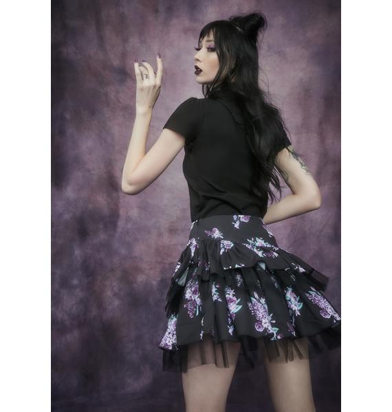Widow Dark Universe Embroidered Fairy Mock Neck