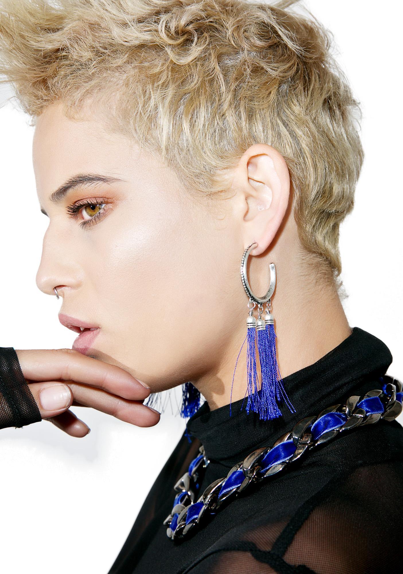 La Lune Fringed Earrings