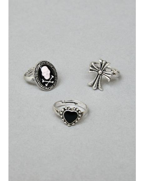 Dark Emblems Ring Set