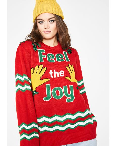 Wanna Scrooge Holiday Sweater