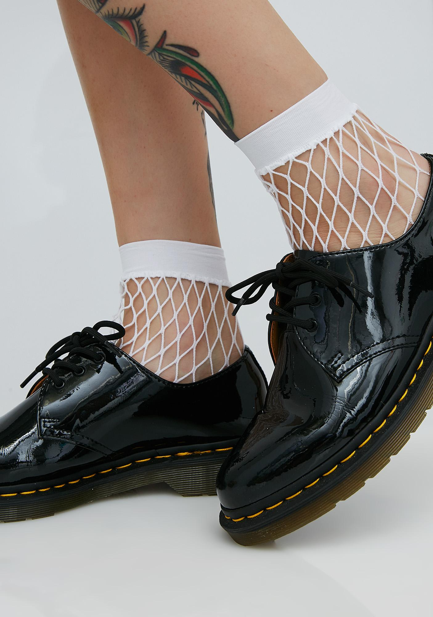 Too Hooked Fishnet Socks
