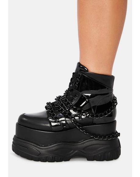 Noisemaker Chain Platform Sneakers