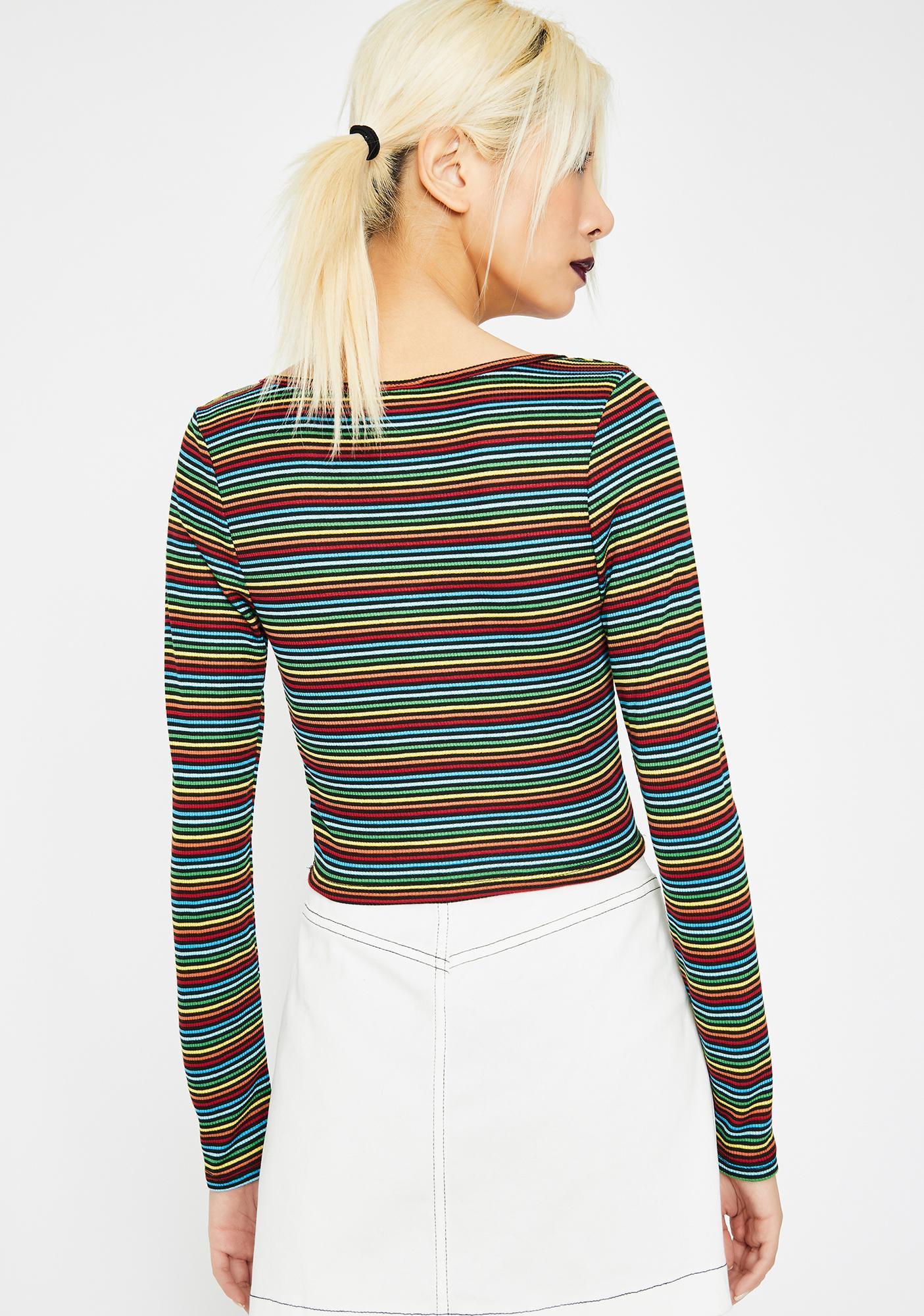 Rainbow Brite Crop Top