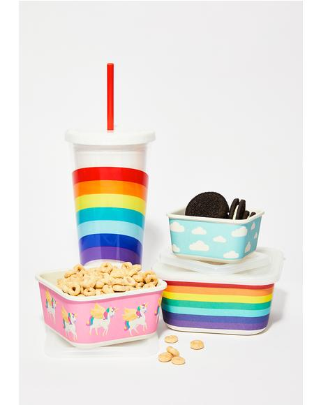 Eat Your Rainbows Eco Snack Box Set