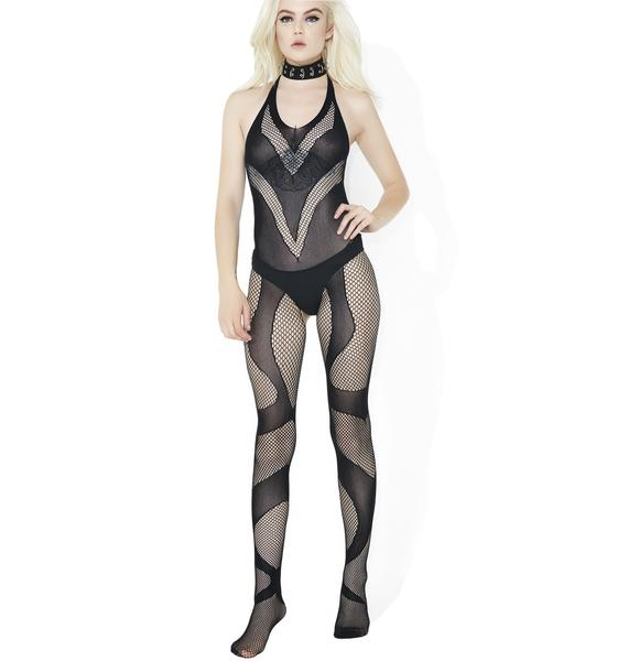 Serpentine Fishnet Bodystocking