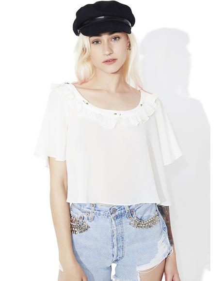 Ivory Little Rosette Sleep Shirt