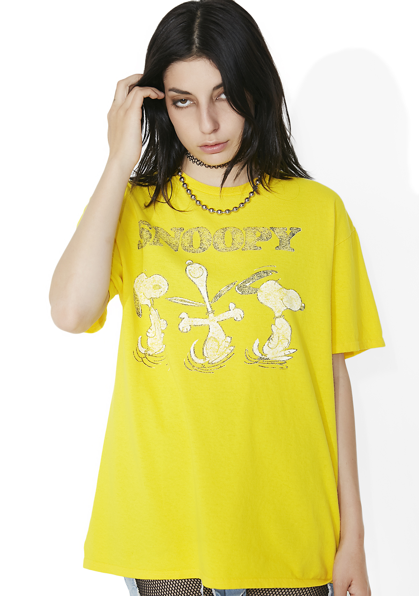 Junk Food Clothing Sunflower Snoopy Tee
