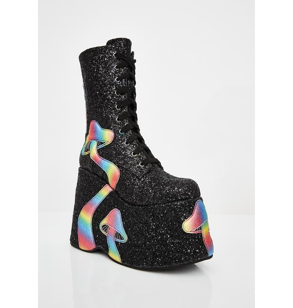 Club Exx Trippy Twilight Platform Boots