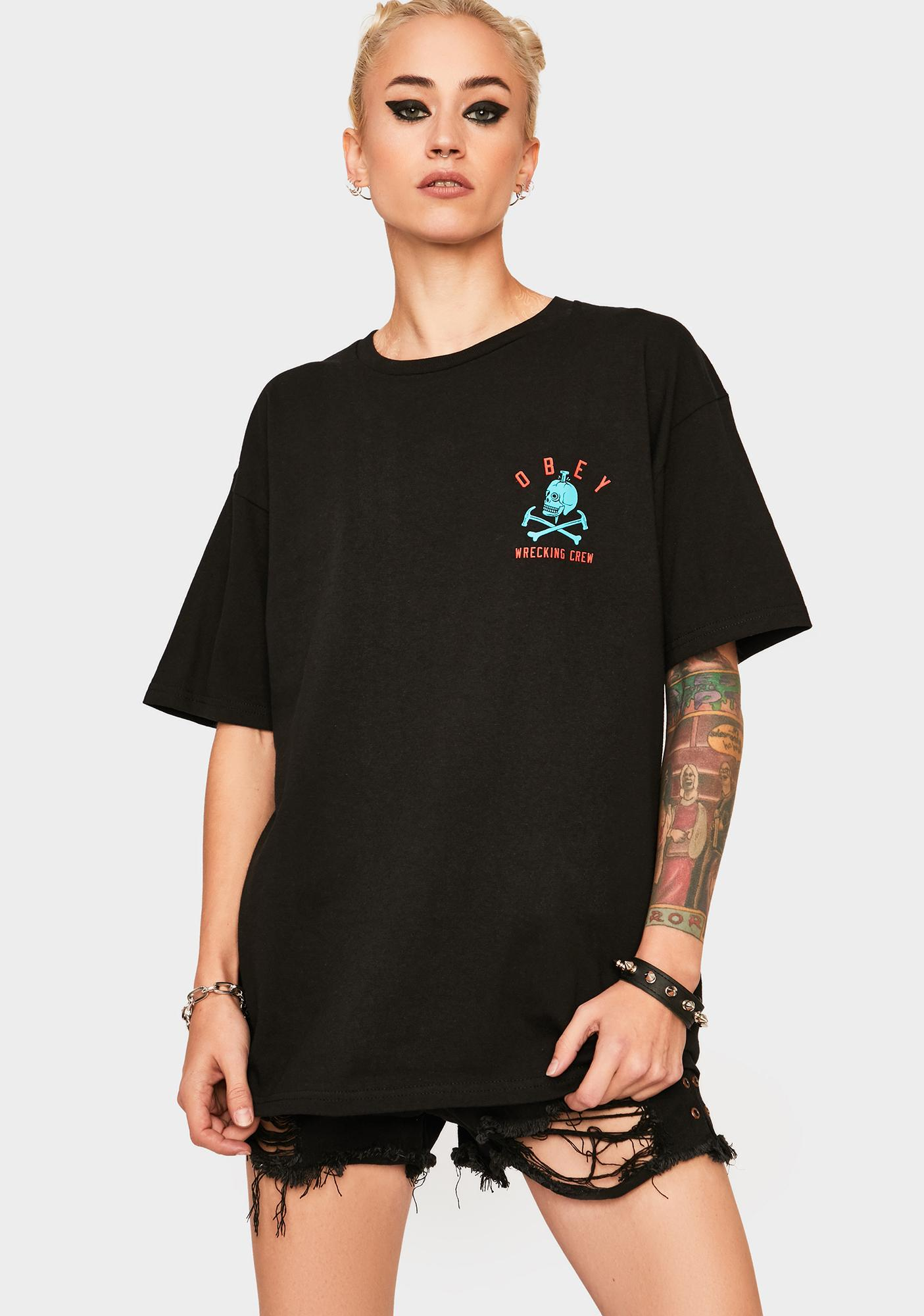 Obey Obey Wrecking Ball Graphic Tee