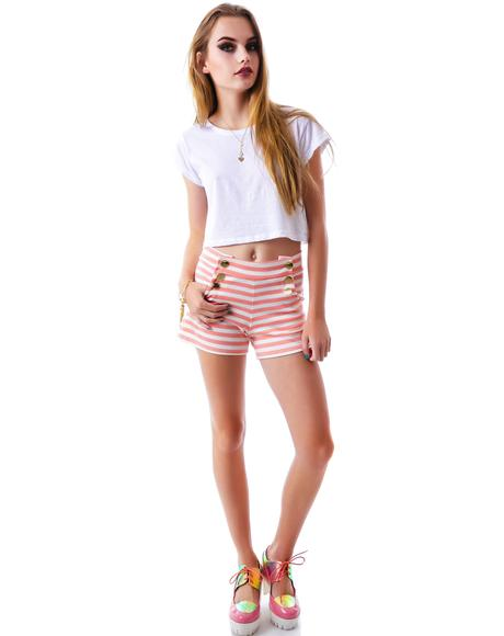 Line It Up Stripe Short