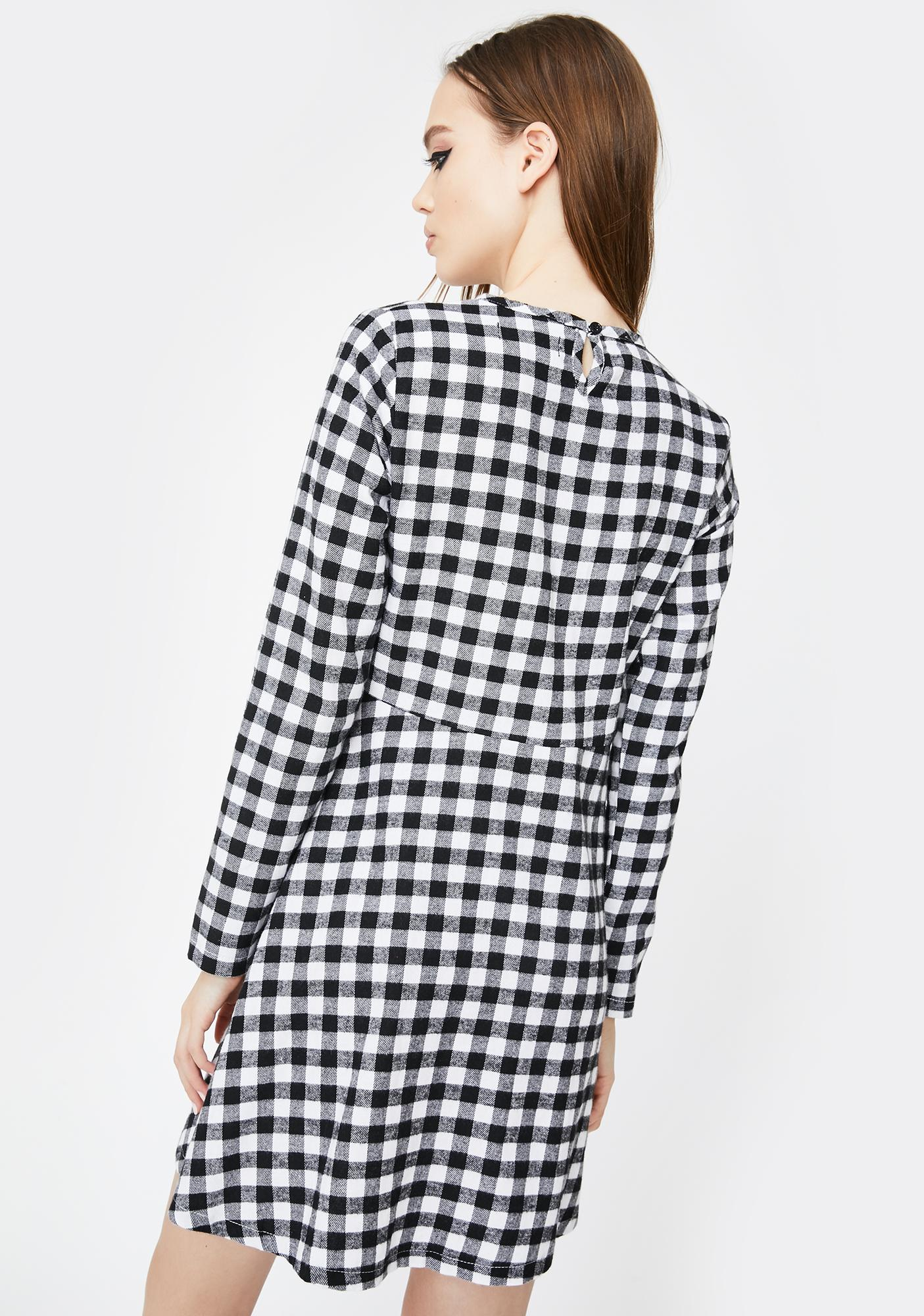 Daisy Street Gingham Check Smock Dress
